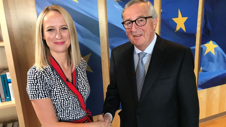 Sophy Ridge and Jean-Claude Juncker