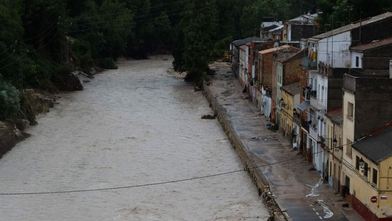September 12, 2019 as torrential rains hit southeastern Spain overnight, sparking major flooding in the Valencia region and closing schools in a move affecting a quarter of a million children