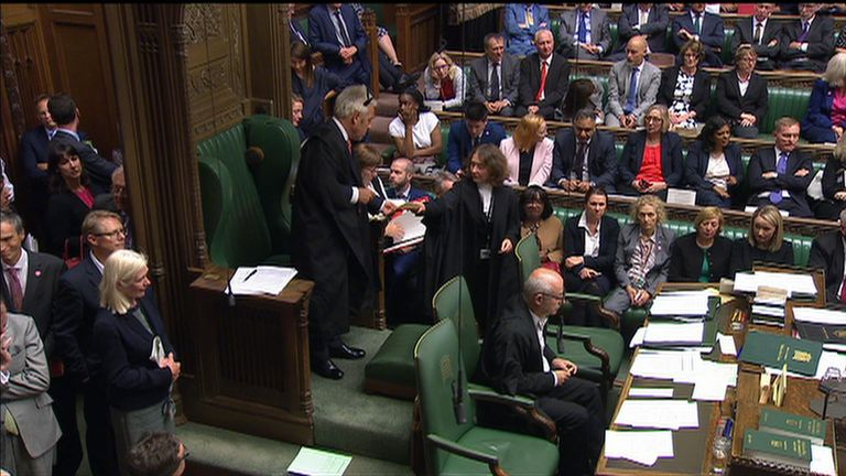 Speaker John Bercow prepared to read the result of the latest vote