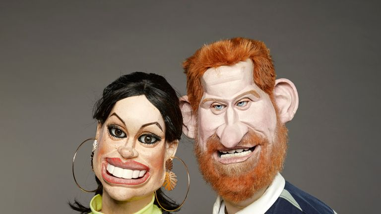 Prince Harry and Meghan in new Spitting Image