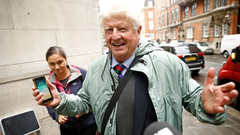 Stanley Johnson in Westminster