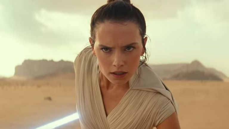 Daisy Ridley in Star Wars: The Rise Of Skywalker. Pic: Star Wars/ YouTube