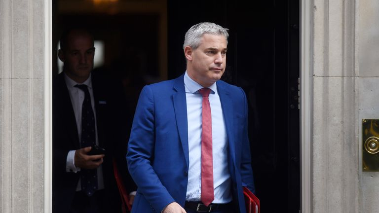 Brexit Secretary Stephen Barclay leaves 10 Downing Street following a cabinet meeting on September 10, 2019 in London, England