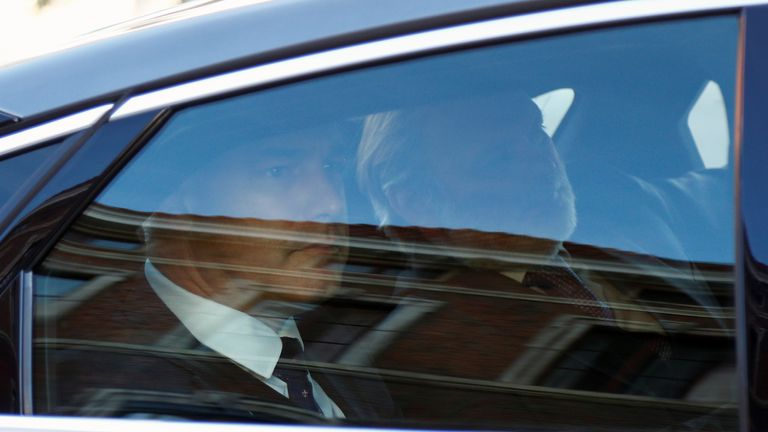 Brexit Secretary Stephen Barclay arrives at the EU Commission for a meeting with European Union's chief Brexit negotiator Michel Barnier in Brussels