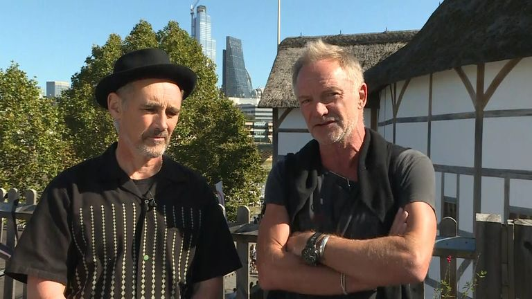 Today is the 20th annual global Peace Day. Sir Mark Rylance and Sting speak to Sky News ahead of an event at The Globe theatre