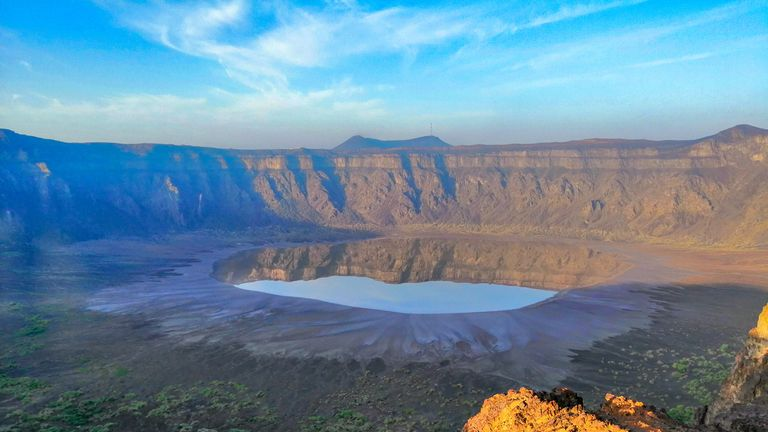The Al Wahbah crater is 820ft deep