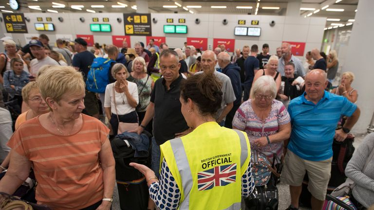British Government officials have been assisting passengers