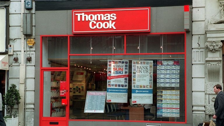 Thomas Cook branch in 1992