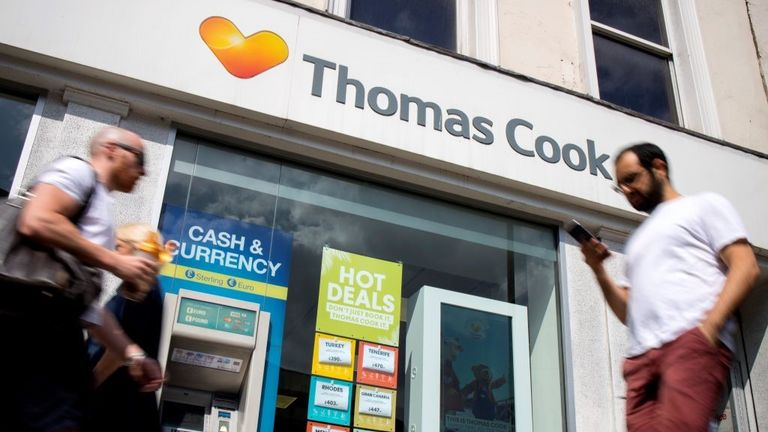 There are more than 560 Thomas Cook stores in the UK