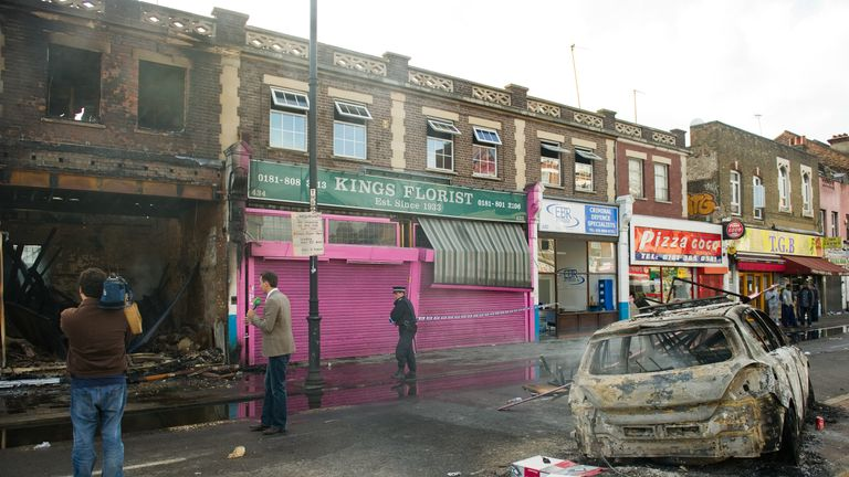 Shop fronts were burnt-out on High Road in Tottenham in the 2011 riots