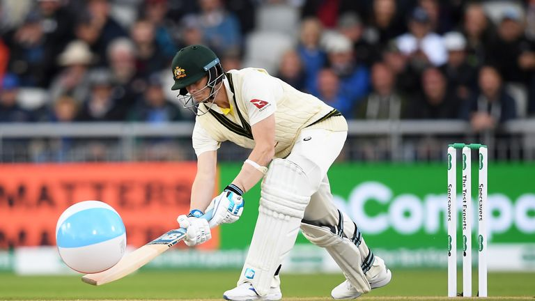 Steve Smith hit an unusual boundary in his innings on day one of the fourth Ashes Test!