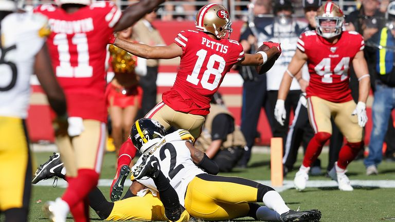 classic fit a8cfa 489be San Francisco 49ers seal victory with late touchdown from ...