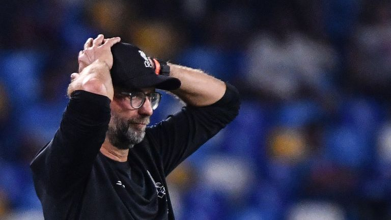 Jurgen Klopp was frustrated by the penalty given against Liverpool in their 2-0 loss to Napoli, but accepts there will always be 'failures' with VAR.