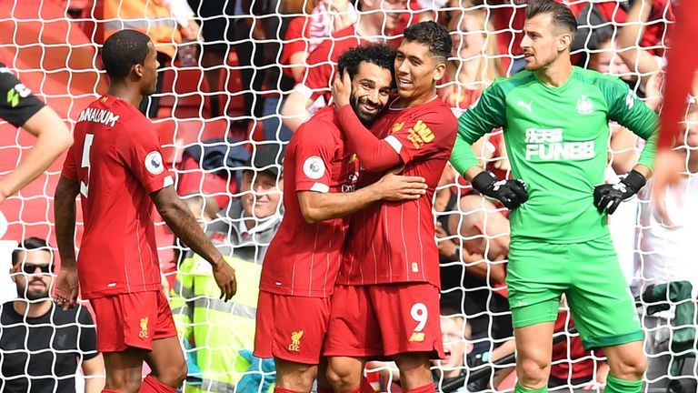 Roberto Firmino and Mohamed Salah who combined beautifully for Liverpool's third against Newcastle, winning Gillette UK's Precision Play of the Week