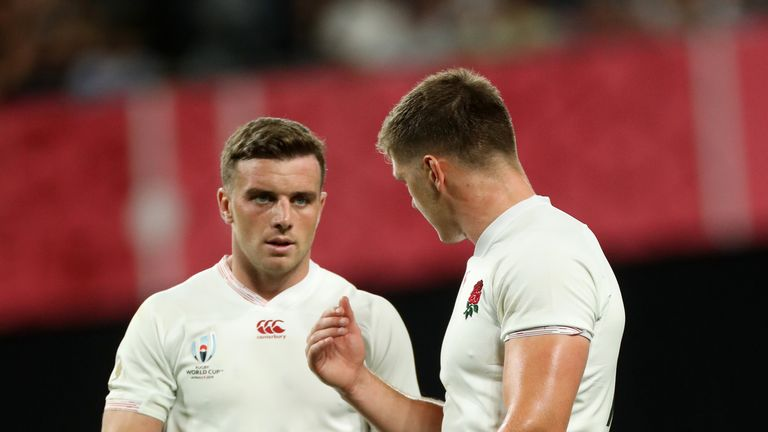 England head coach Eddie Jones has picked George Ford at fly-half and Owen Farrell at inside-centre for Saturday's World Cup semi-final against New Zealand