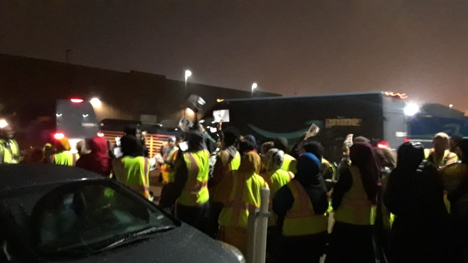 Amazon warehouse staff walk out as dispute over conditions deepens