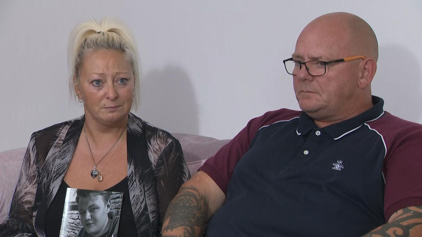 Harry Dunn's grieving parents
