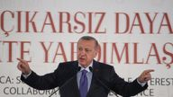 The Turkish president has threatened to 'crush the heads' of Kurdish fighters in Syria