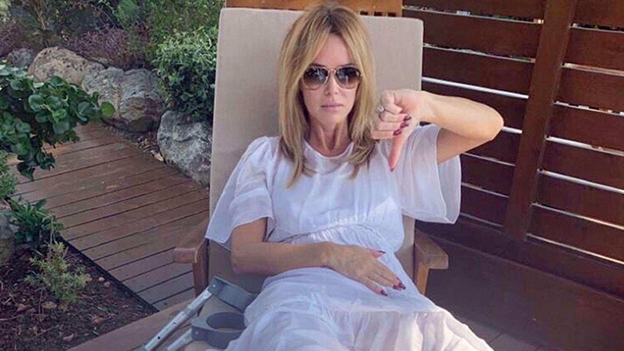 Amanda Holden Films amanda holden breaks leg in two places on family holiday