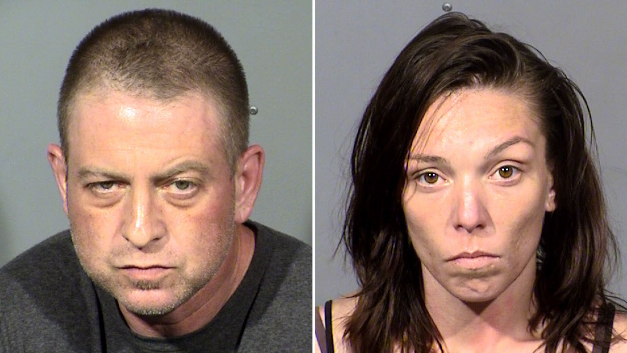 Two arrested as missing woman's body found encased in concrete in Nevada desert