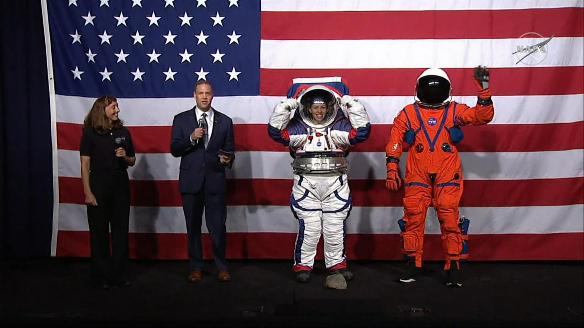 NASA unveils new spacesuits for 2024 moon mission