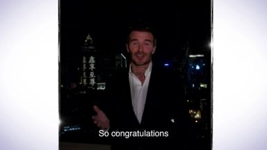 Becks congratulates record-breaking Ramos