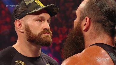 Tyson Fury brawls on WWE Raw
