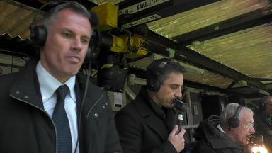 Nev, Carra react to Rashford's goal