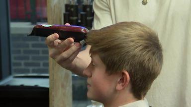 Salford fans get Hastings haircuts!