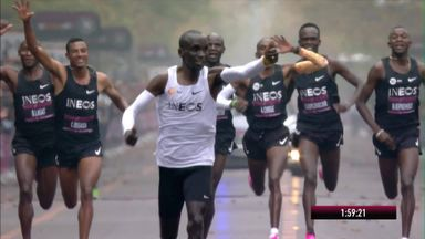 Kipchoge makes marathon history in Vienna
