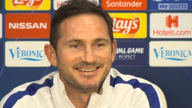 Lampard's amusing exchange with reporter