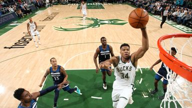 Giannis runs riot against T-Wolves