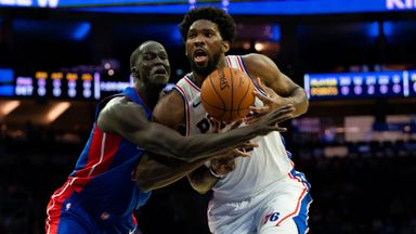 Embiid dominates against Detroit