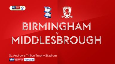 Birmingham 2-1 Middlesbrough