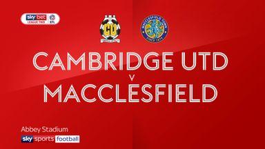 Cambridge 2-2 Macclesfield