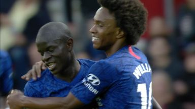 Kante adds deflected third (40)