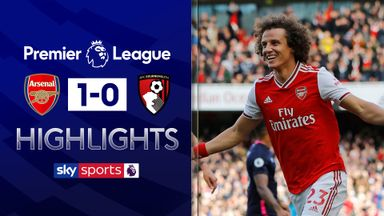 Luiz header sends Arsenal third