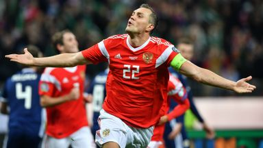 Russia put four past Scotland