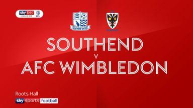 Southend 1-4 AFC Wimbledon