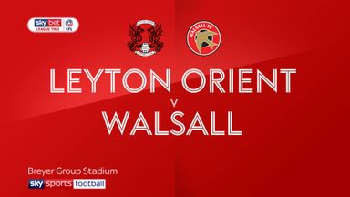 Leyton Orient 3-1 Walsall