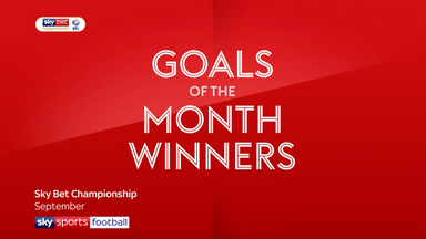 EFL Goal of the Month winners - September
