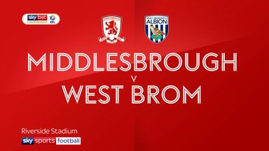 Middlesbrough 0-1 West Brom
