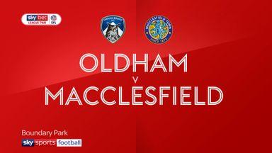 Oldham 0-1 Macclesfield