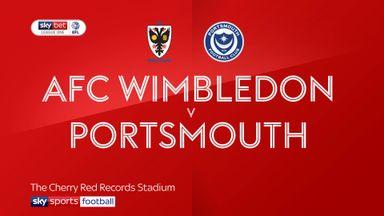AFC Wimbledon 1-0 Portsmouth