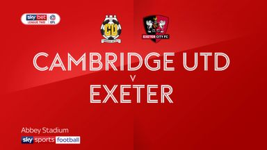 Cambridge 4-0 Exeter