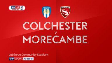 Colchester 0-1 Morecambe