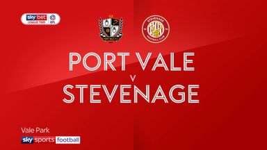Port Vale 1-1 Stevenage