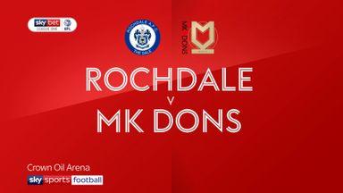 Rochdale 2-0 MK Dons