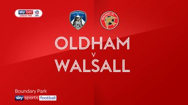 Oldham 2-0 Walsall