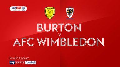 Burton 1-0 AFC Wimbledon